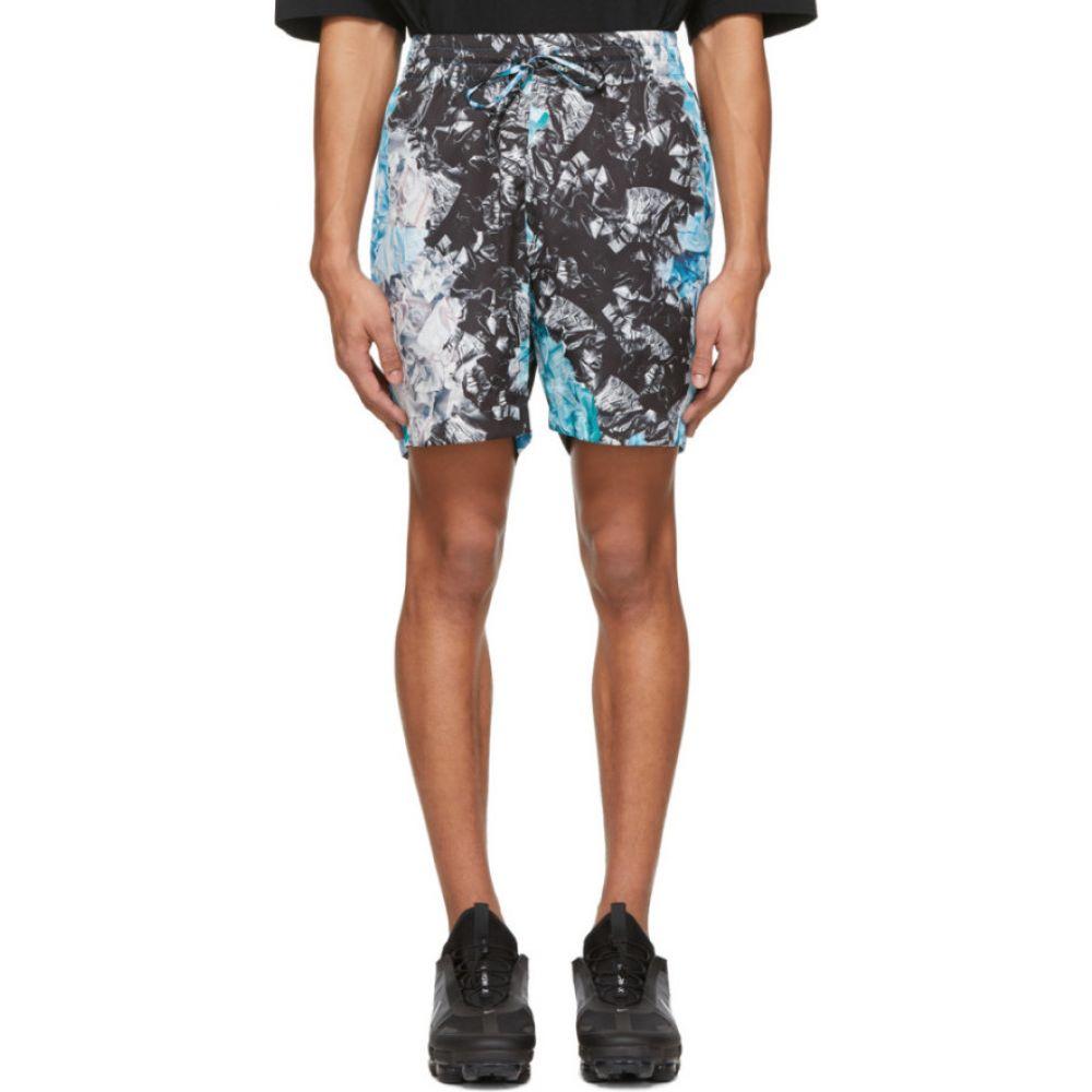カンヒャク Kanghyuk メンズ ショートパンツ ボトムス・パンツ【Multicolor Camo Airbag Shorts】Multi/Blue