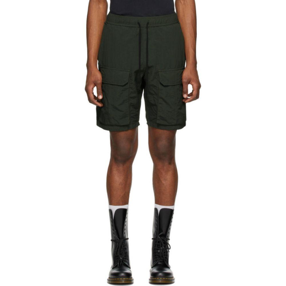 リースクーパー Reese Cooper メンズ ショートパンツ カーゴ ボトムス・パンツ【Green Nylon Cargo Shorts】Green