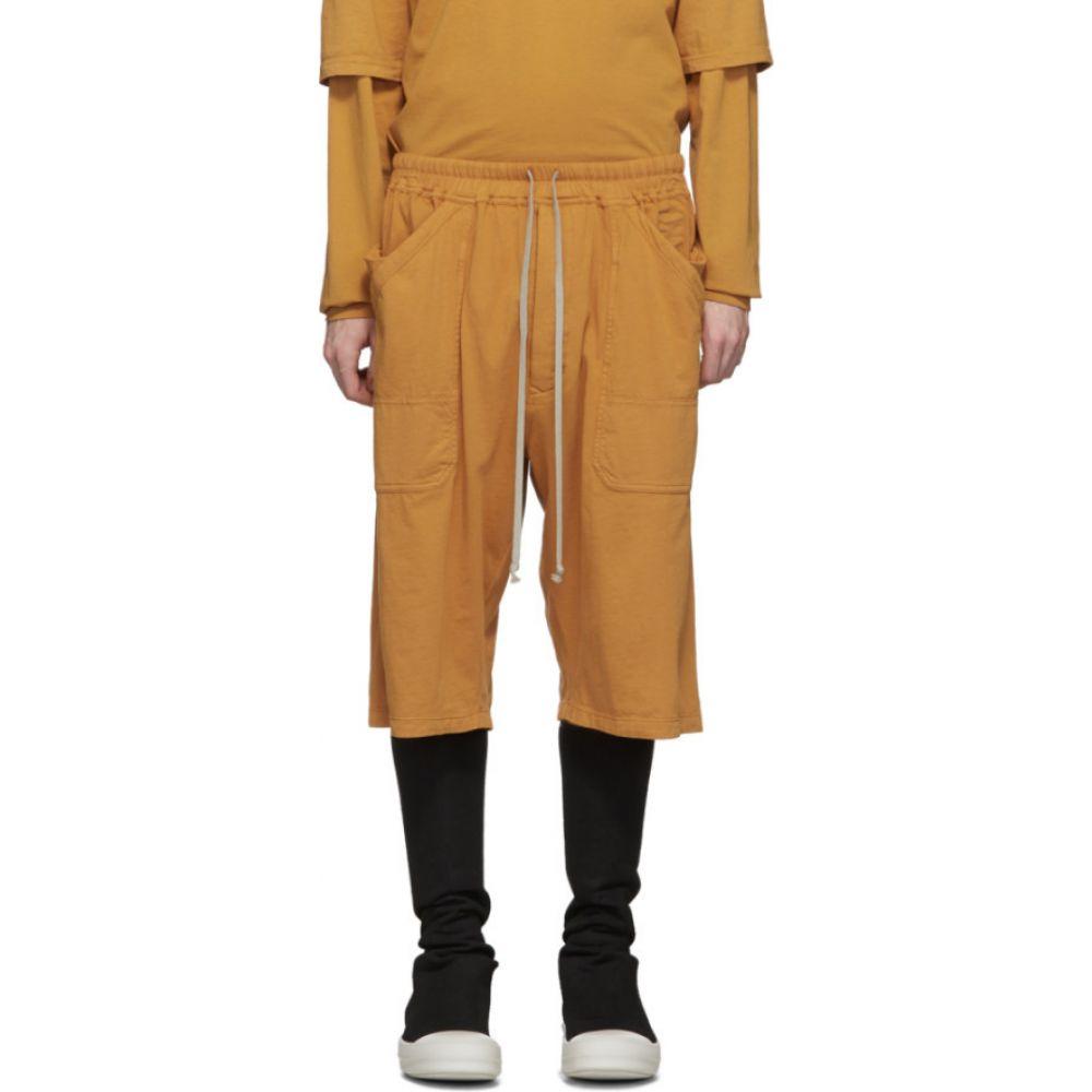 リック オウエンス Rick Owens Drkshdw メンズ ショートパンツ ボトムス・パンツ【Orange Drawstring Shorts】Tangerine