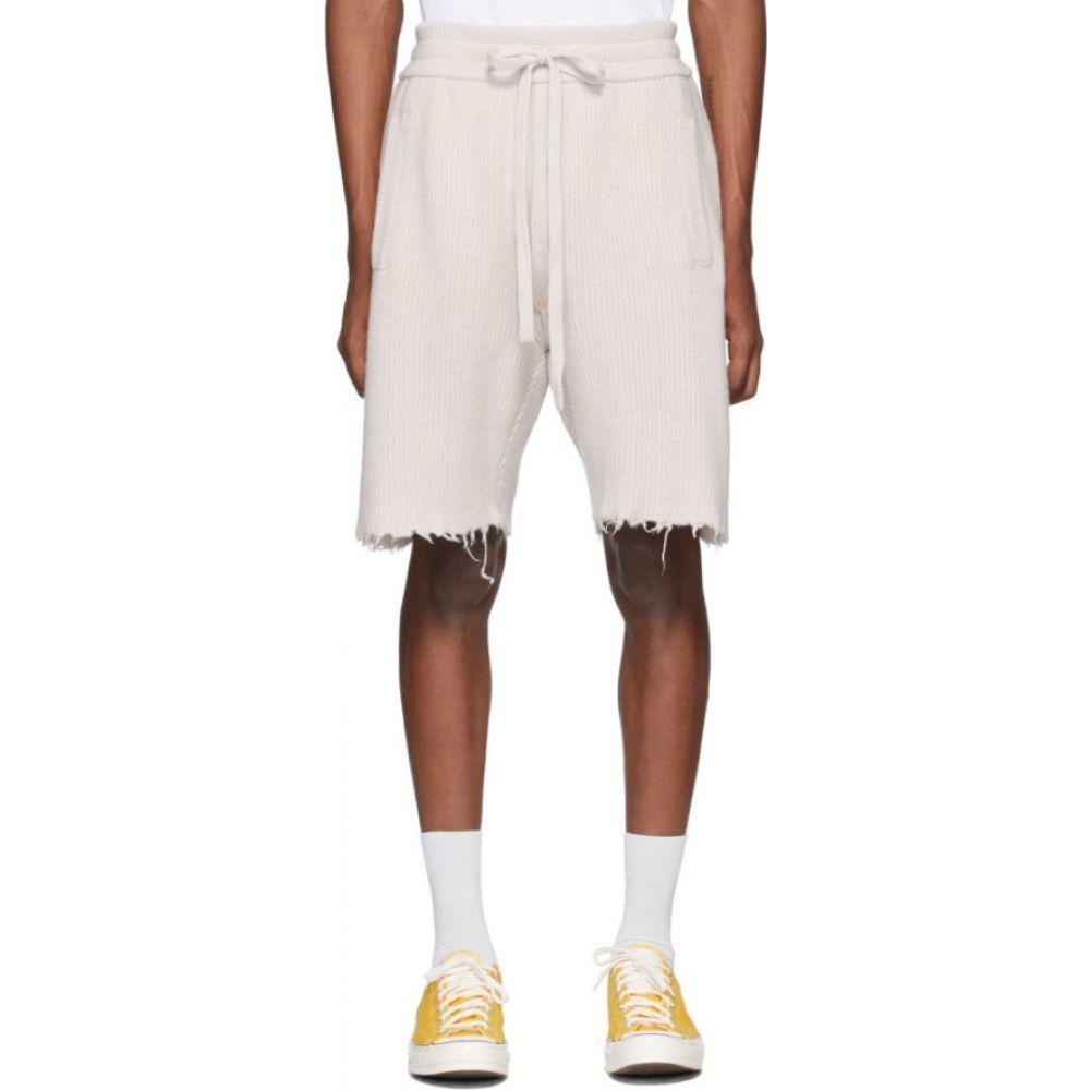 アラヌイ Alanui メンズ ショートパンツ バミューダ ボトムス・パンツ【Off-White Cashmere Bermuda Shorts】White