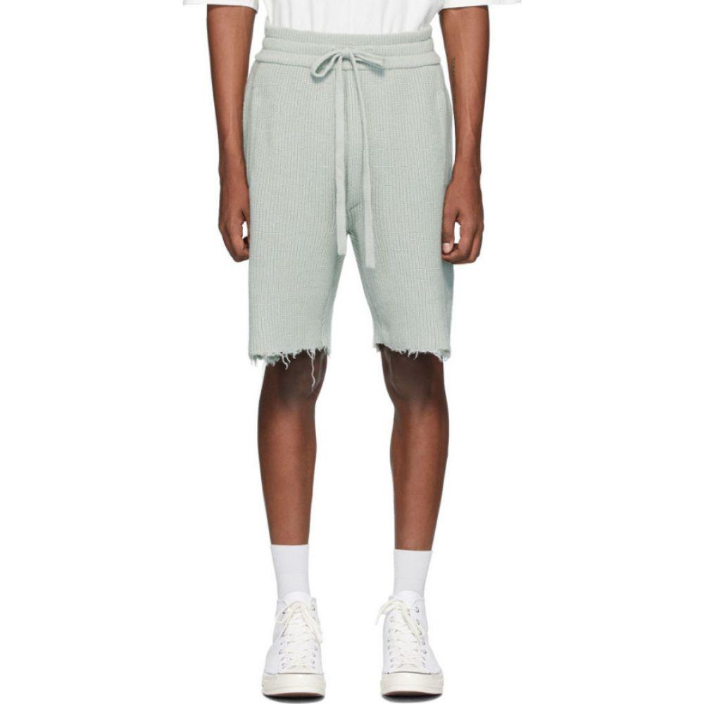 アラヌイ Alanui メンズ ショートパンツ バミューダ ボトムス・パンツ【Grey Cashmere Bermuda Shorts】Grey