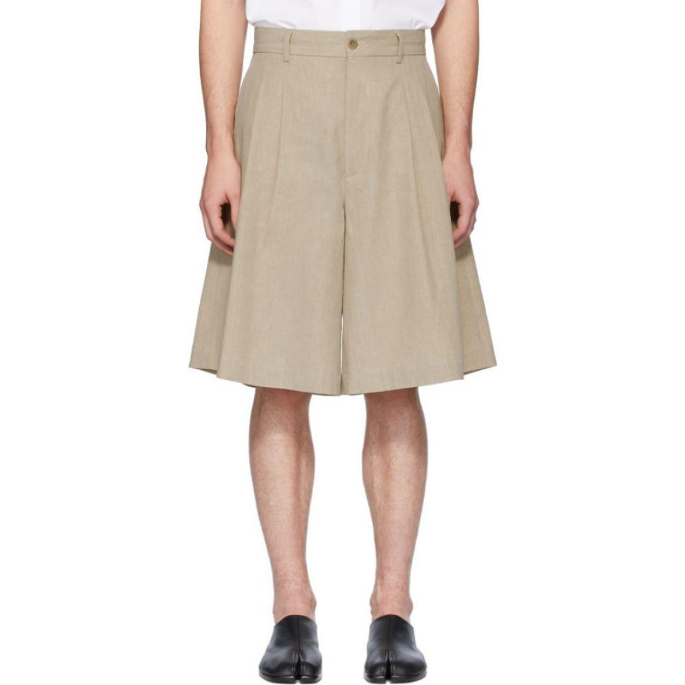 メゾン マルジェラ Maison Margiela メンズ ショートパンツ ボトムス・パンツ【Beige Linen Cloth Shorts】Beige