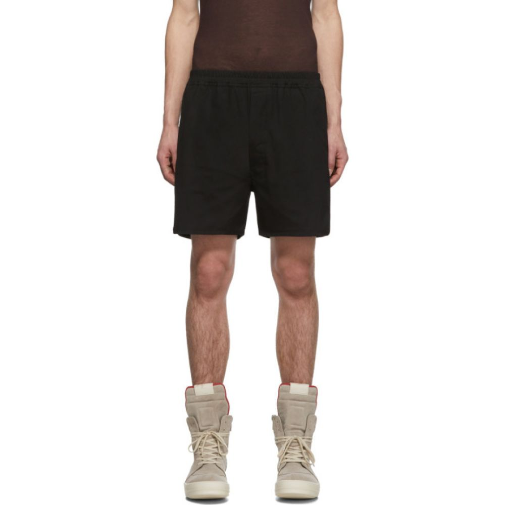 リック オウエンス Rick Owens メンズ ショートパンツ ボトムス・パンツ【Black Dolphin Boxer Shorts】Black