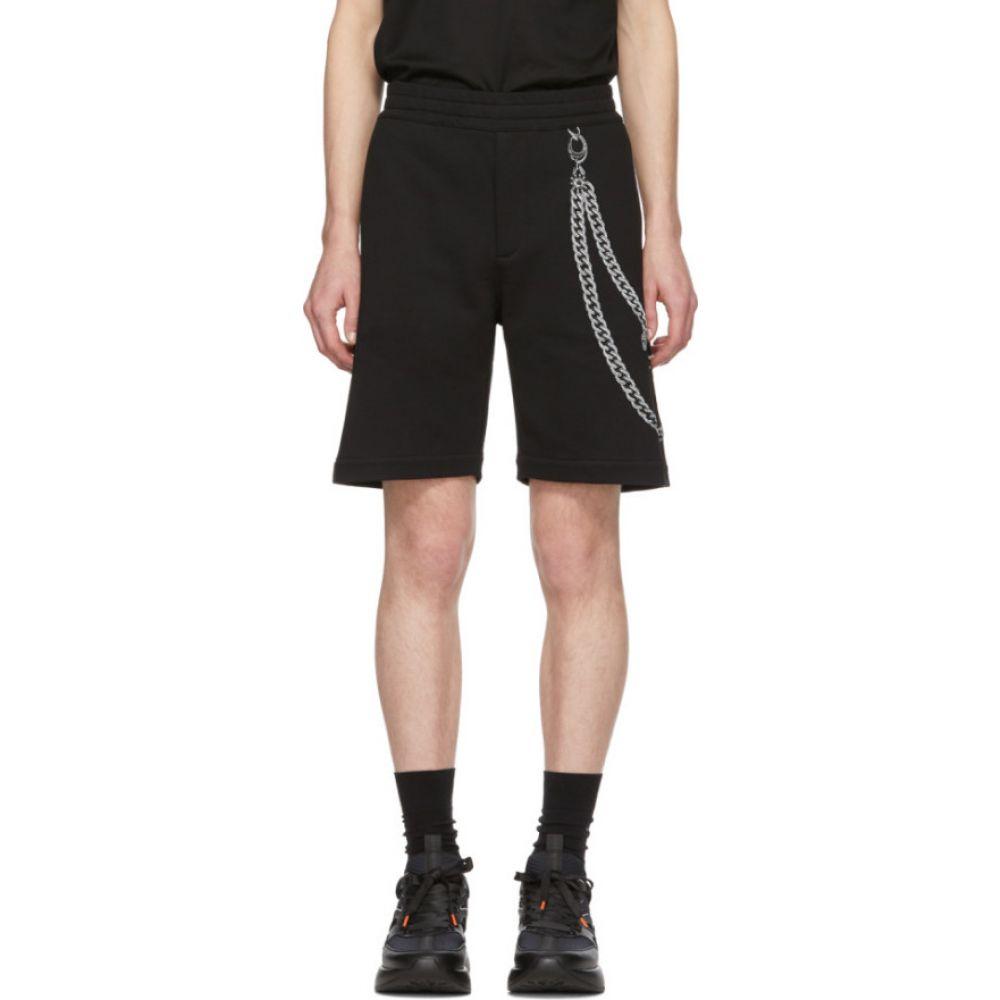 アレキサンダー マックイーン Alexander McQueen メンズ ショートパンツ ボトムス・パンツ【Black Chain Embroidery Shorts】Black/Mix