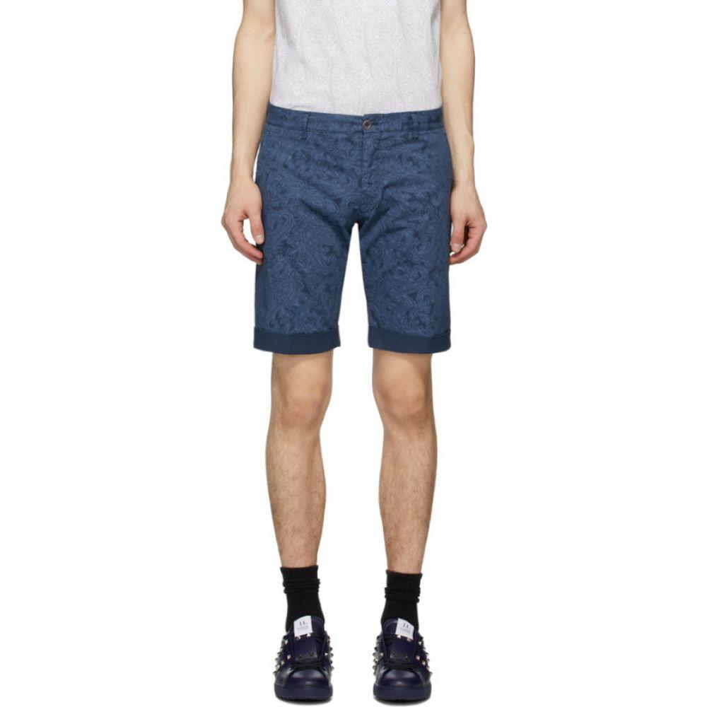 エトロ Etro メンズ ショートパンツ バミューダ ボトムス・パンツ【Blue Paisley Bermuda Shorts】Jazz blue