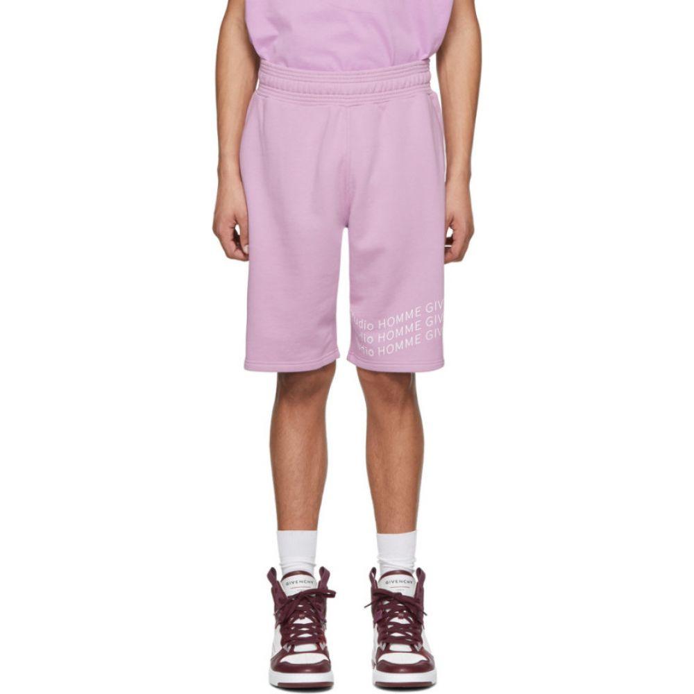 ジバンシー Givenchy メンズ ショートパンツ ボトムス・パンツ【Purple Logo Wave Shorts】Lilac