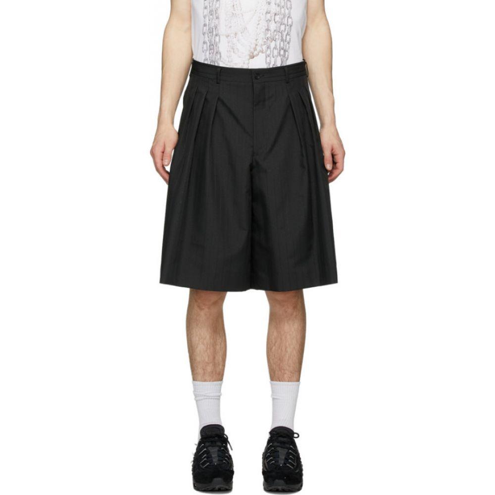 コム デ ギャルソン Comme des Garcons Homme Plus メンズ ショートパンツ ボトムス・パンツ【Black Dobby Stripe Shorts】Black