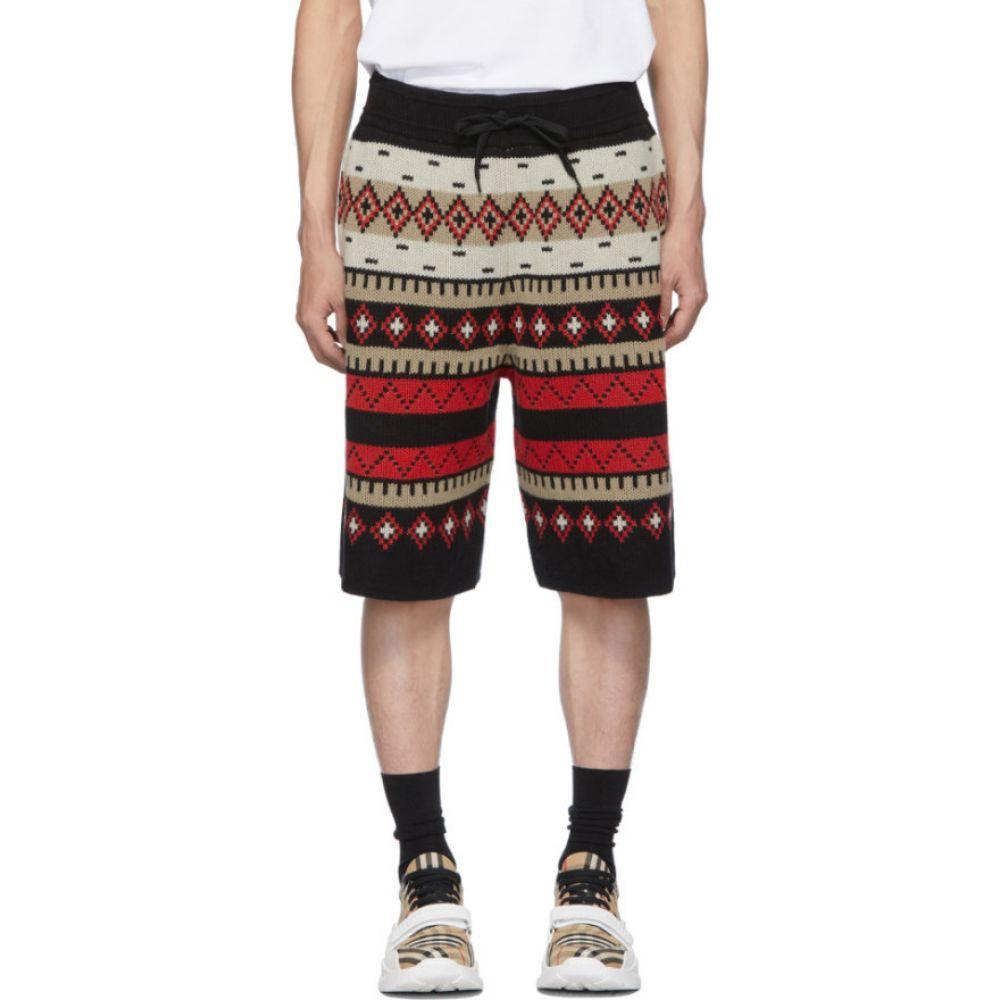 バーバリー Burberry メンズ ショートパンツ ボトムス・パンツ【Black Fair Isle Nathan Shorts】Black