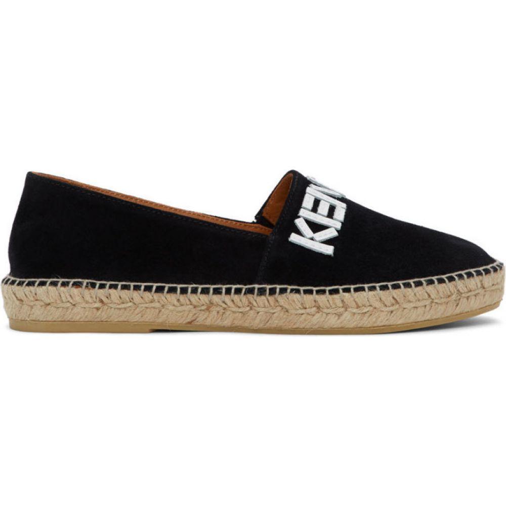 ケンゾー Kenzo メンズ エスパドリーユ シューズ・靴【Black Suede Logo Espadrilles】Black