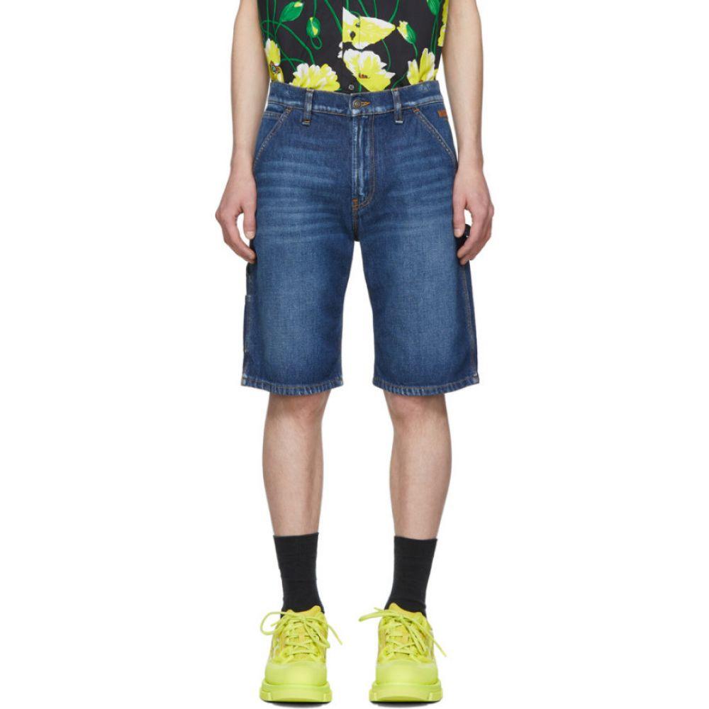 エムエスジーエム MSGM メンズ ショートパンツ デニム ボトムス・パンツ【Blue Denim 70s Wash Shorts】Medium blue
