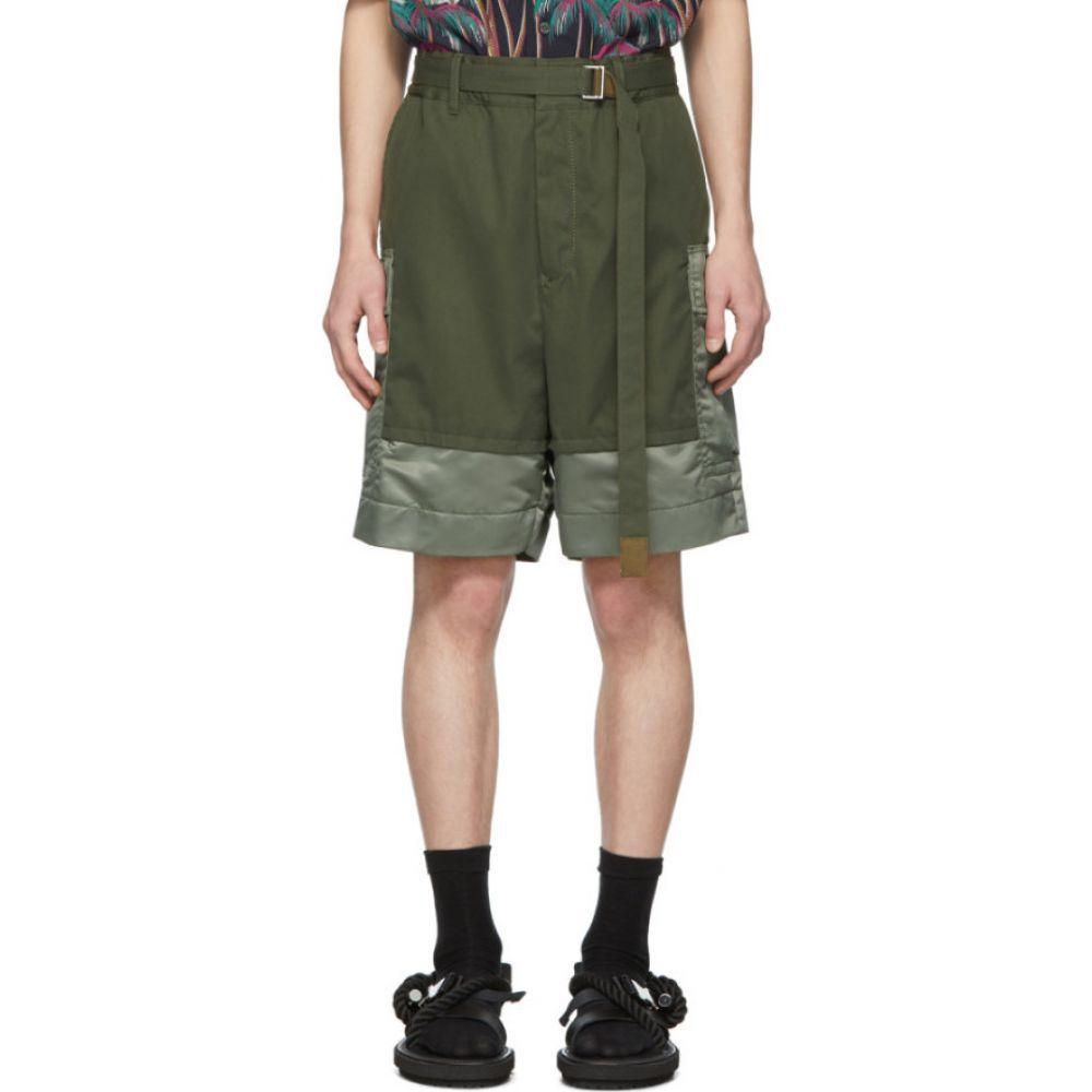 サカイ Sacai メンズ ショートパンツ ボトムス・パンツ【Khaki Combo Shorts】Khaki