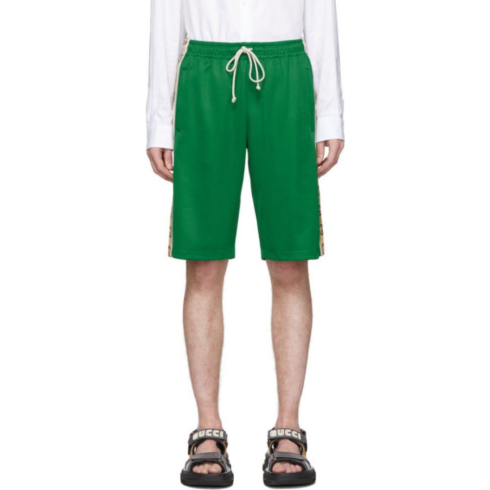 グッチ Gucci メンズ ショートパンツ ボトムス・パンツ【Green Jersey GG Ribbon Shorts】Clover green