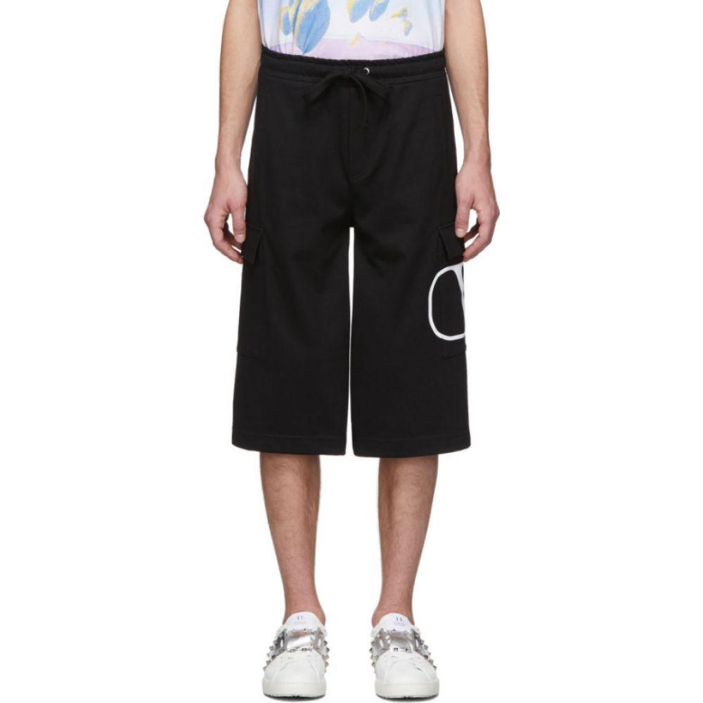 ヴァレンティノ Valentino メンズ ショートパンツ カーゴ ボトムス・パンツ【Black VLogo Cargo Shorts】Nero