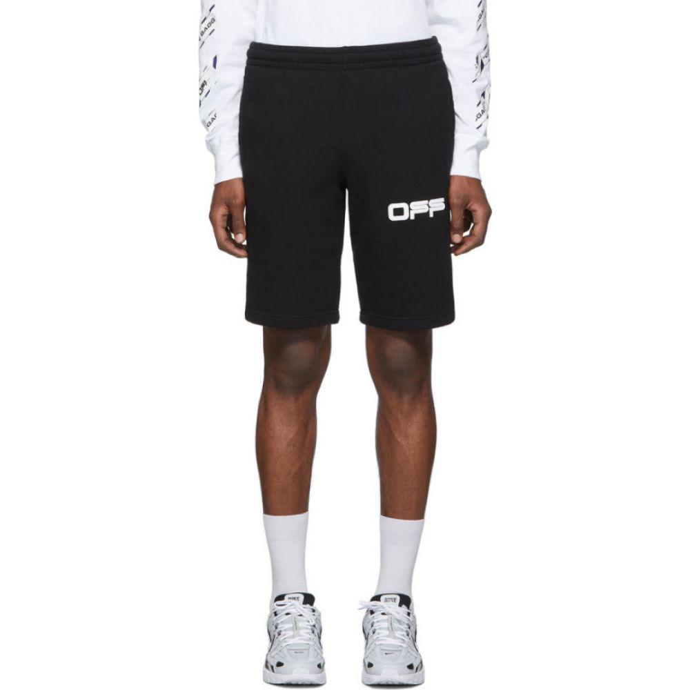 オフホワイト Off-White メンズ ショートパンツ ボトムス・パンツ【Black Airport Tape Shorts】Black