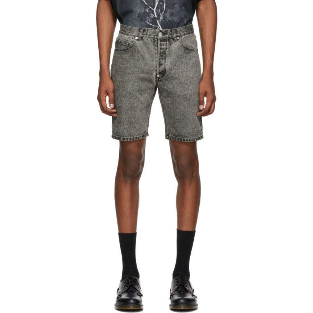 ジョン ローレンス サリバン Johnlawrencesullivan メンズ ショートパンツ デニム ボトムス・パンツ【Grey Denim Bleached Shorts】Grey