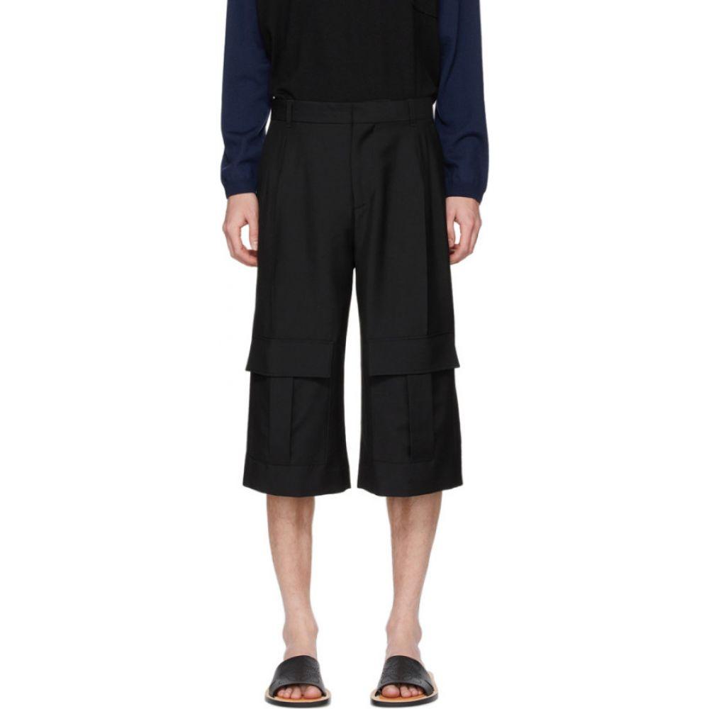 ロエベ Loewe メンズ ショートパンツ カーゴ ボトムス・パンツ【Navy Wool Cargo Short Trousers】Dark navy blue