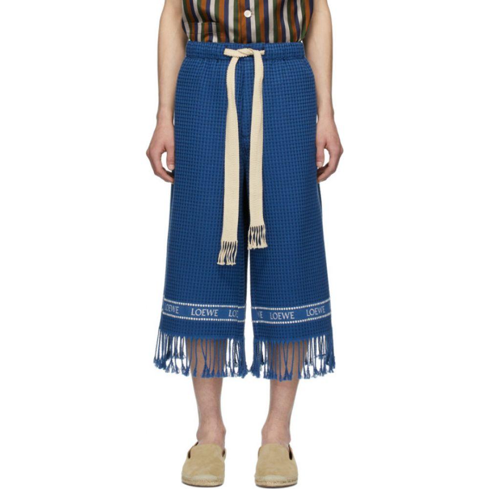 ロエベ Loewe メンズ ショートパンツ ボトムス・パンツ【Navy Jacquard Trim Shorts】Navy blue
