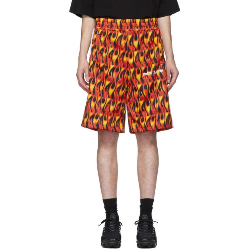 パーム エンジェルス Palm Angels メンズ ショートパンツ ボトムス・パンツ【Black & Red Burning Shorts】Black multi