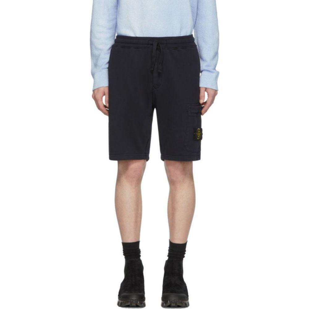 ストーンアイランド Stone Island メンズ ショートパンツ ボトムス・パンツ【Navy Fleece Shorts】Navy blue