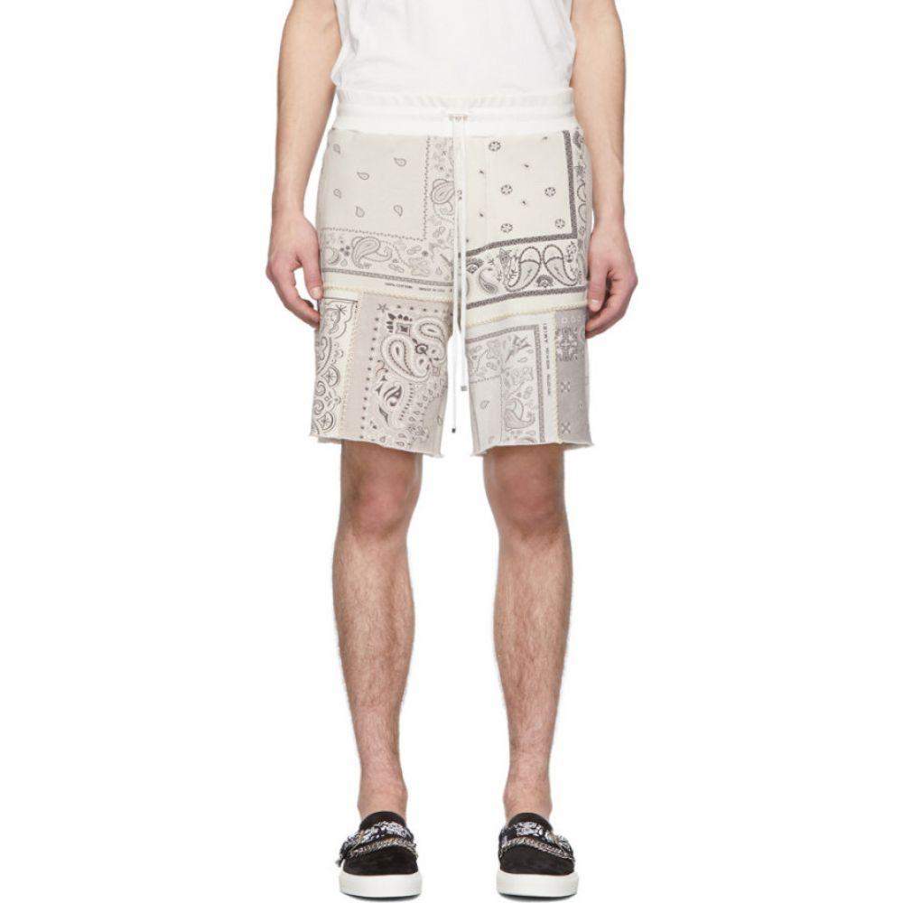 アミリ Amiri メンズ ショートパンツ ボトムス・パンツ【Off-White Bandana Reconstructed Shorts】Ivory