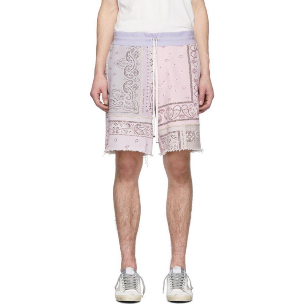 アミリ Amiri メンズ ショートパンツ ボトムス・パンツ【Purple Bandana Reconstructed Shorts】Lavender