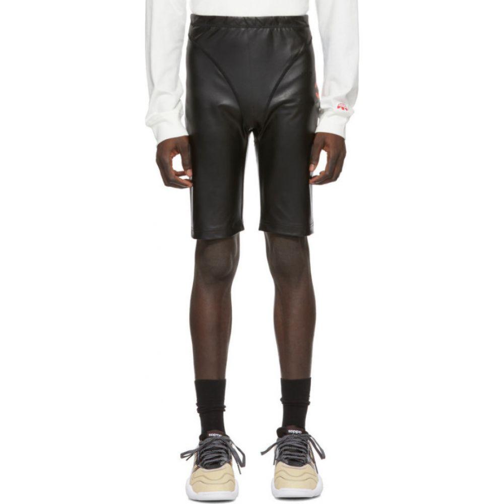 アディダス adidas Originals by Alexander Wang メンズ ショートパンツ ボトムス・パンツ【Black Faux-Leather Shorts】Black