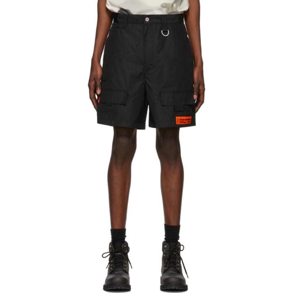 ヘロン プレストン Heron Preston メンズ ショートパンツ カーゴ ボトムス・パンツ【Black 'New York' Cargo Shorts】Black/Black