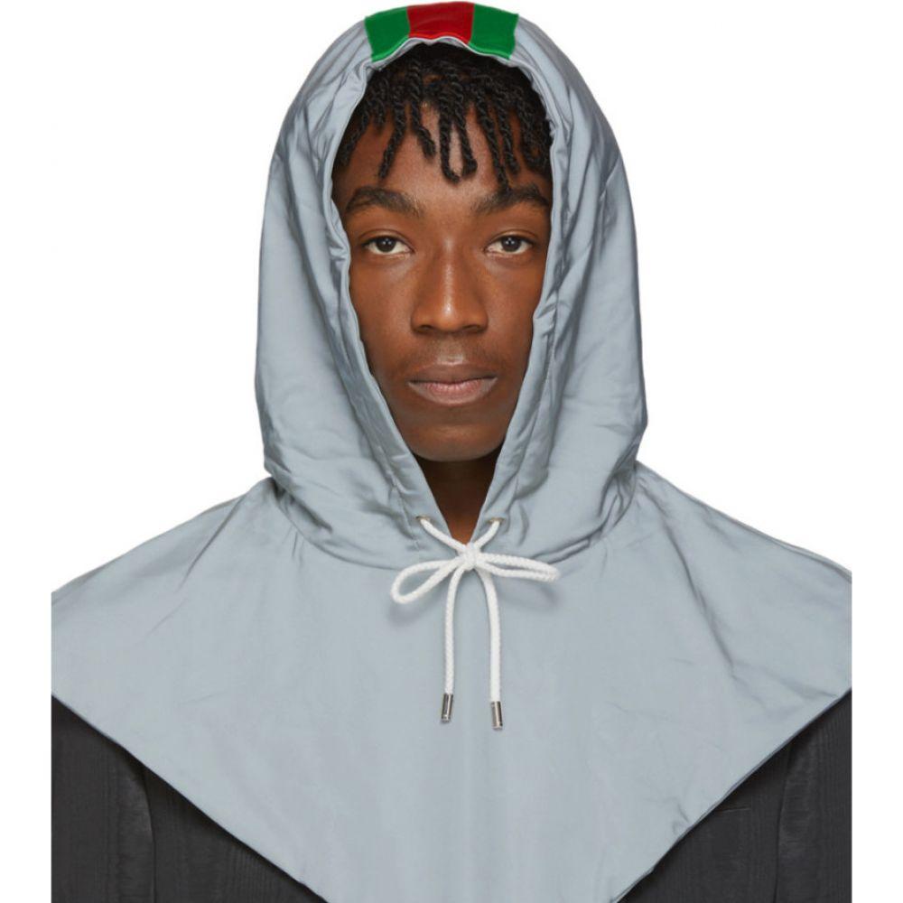 グッチ Gucci メンズ ファッション小物 【Silver Reflective Hood】Grey