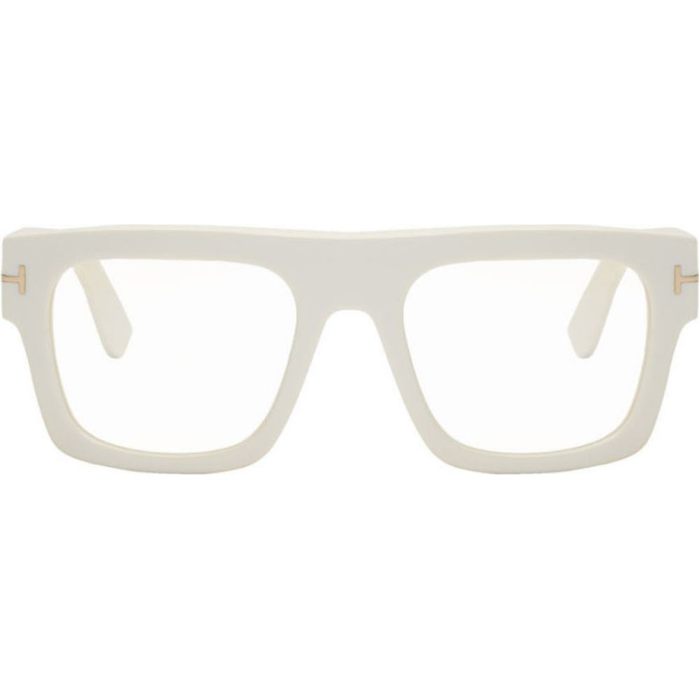トム フォード Tom Ford メンズ メガネ・サングラス 【White Blue Block Fausto Glasses】White