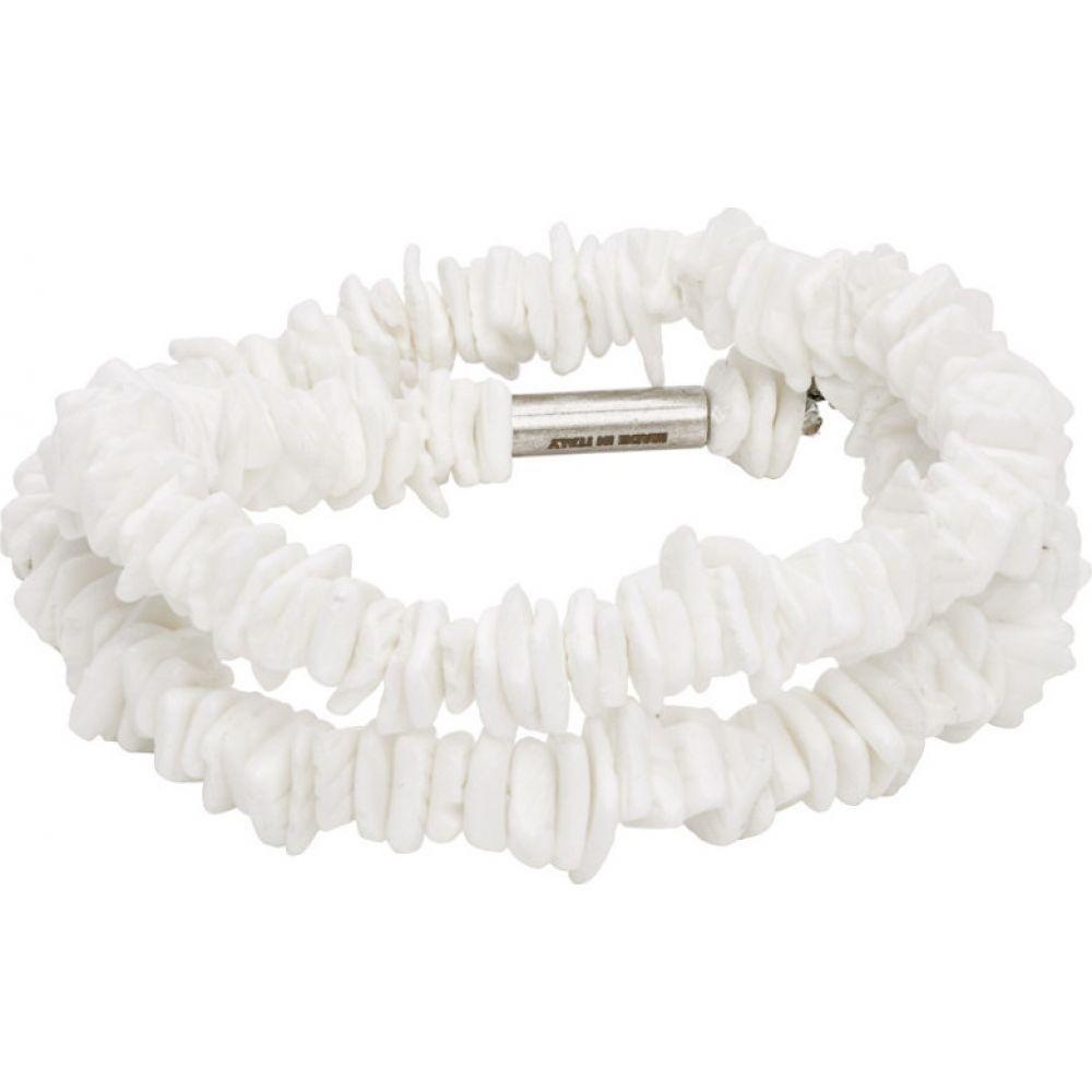 ディースクエアード Dsquared2 メンズ ブレスレット ラップブレス ジュエリー・アクセサリー【White Shell Double Wrap Bracelet】Blanc