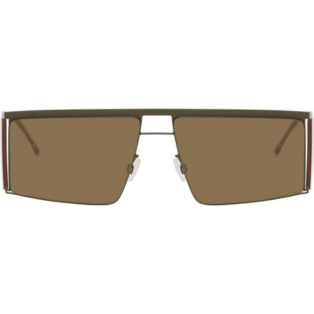 ヘルムート ラング Helmut Lang メンズ メガネ・サングラス 【Green & Yellow Mykita Edition HL001 Sunglasses】Green/Yellow