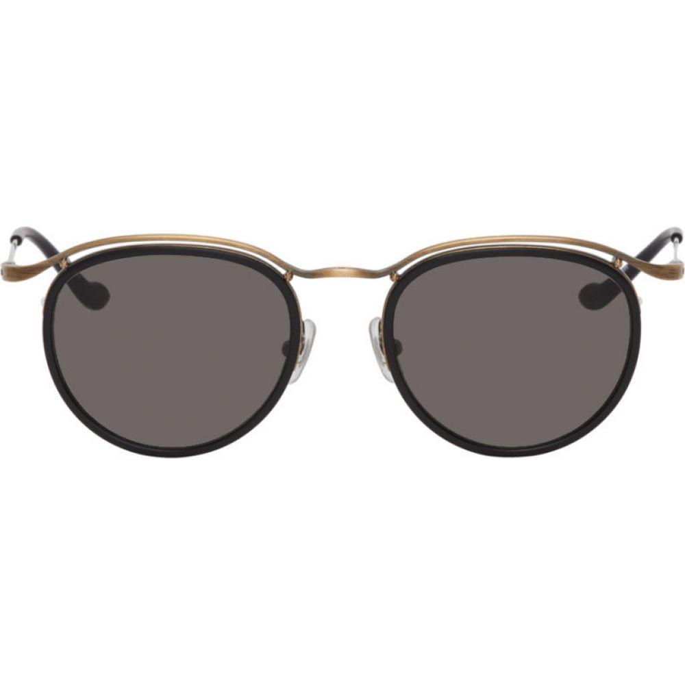 マツダ Matsuda メンズ メガネ・サングラス 【Black & Gold M3093 Sunglasses】Black/Aged gold-tone