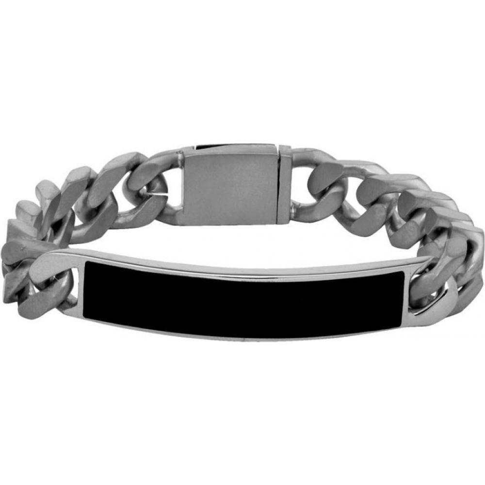 メゾン マルジェラ Maison Margiela メンズ ブレスレット ジュエリー・アクセサリー【Silver & Black ID Bracelet】Silver
