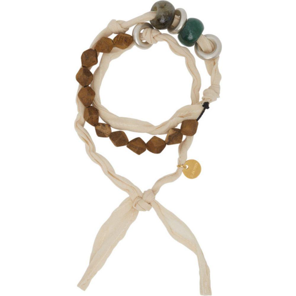 ジル サンダー Jil Sander メンズ ブレスレット ジュエリー・アクセサリー【Beige Flow Bracelet】Antique White