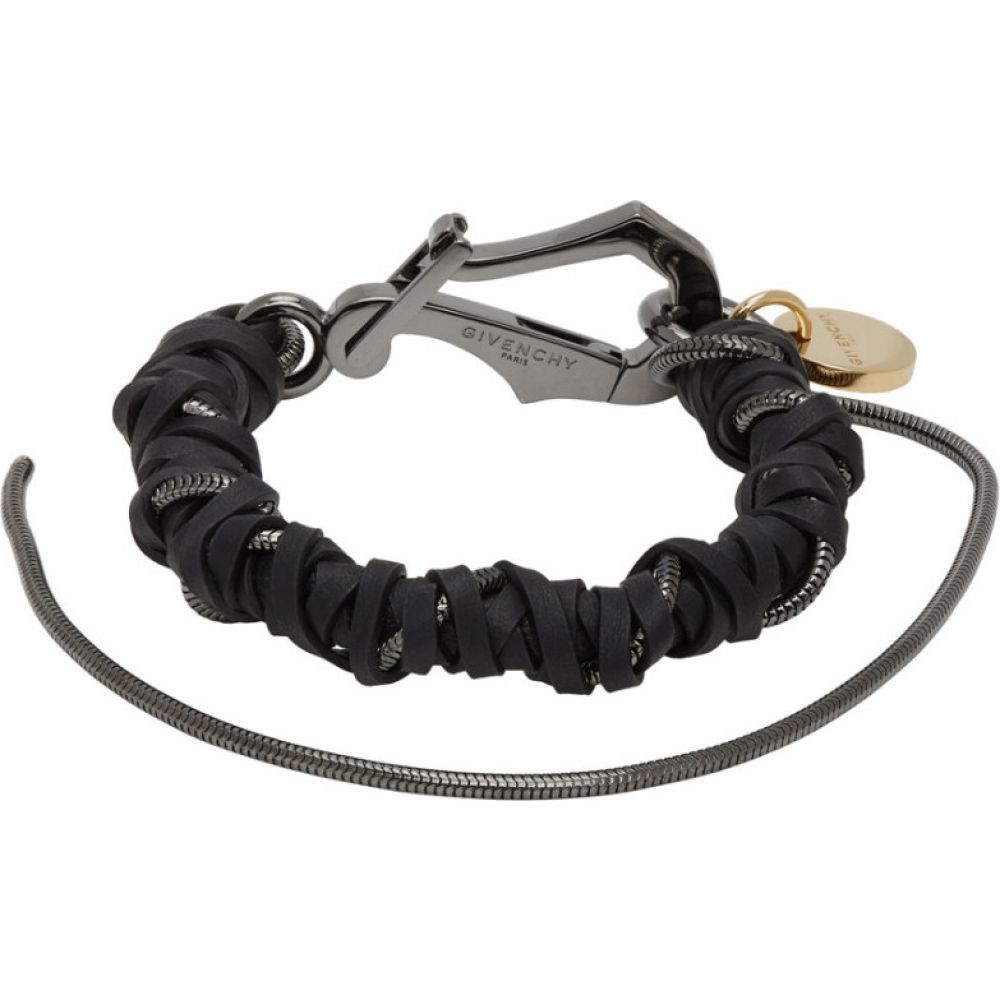 ジバンシー Givenchy メンズ ブレスレット ジュエリー・アクセサリー【Black Braided Bracelet】Black/Grey