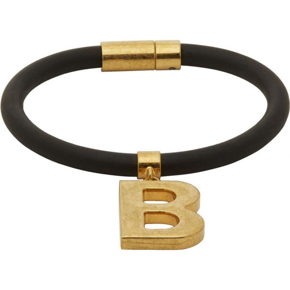バレンシアガ Balenciaga メンズ ブレスレット ジュエリー・アクセサリー【Black Elastic B Bracelet】Black