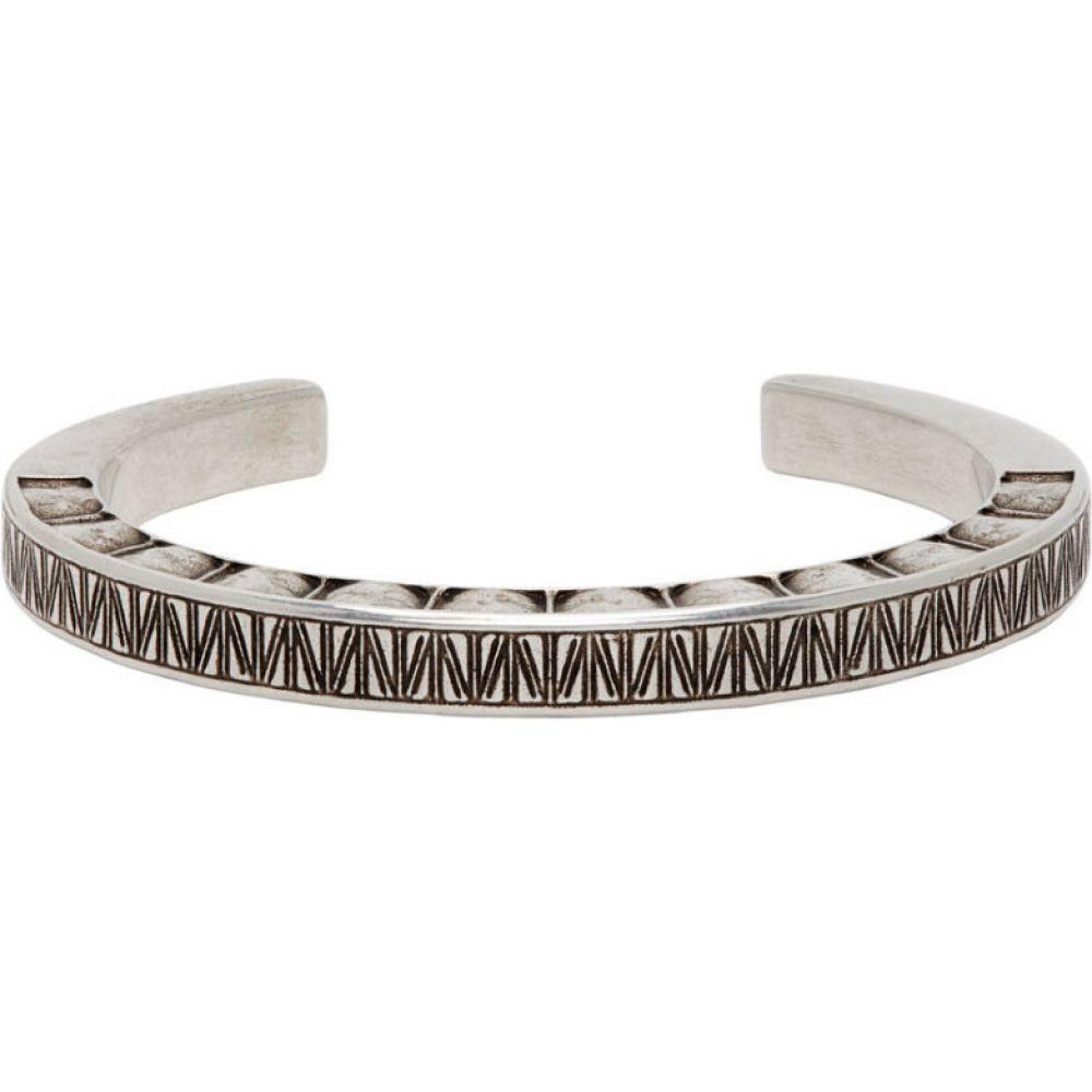 イヴ サンローラン Saint Laurent メンズ ブレスレット ジュエリー・アクセサリー【Silver Carre Bracelet】Argent oxyde