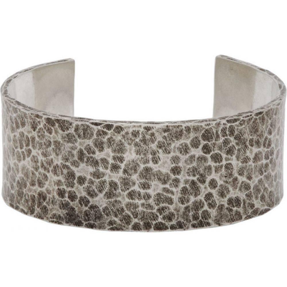 イヴ サンローラン Saint Laurent メンズ ブレスレット ジュエリー・アクセサリー【Silver Martele Bracelet】Argent oxyde