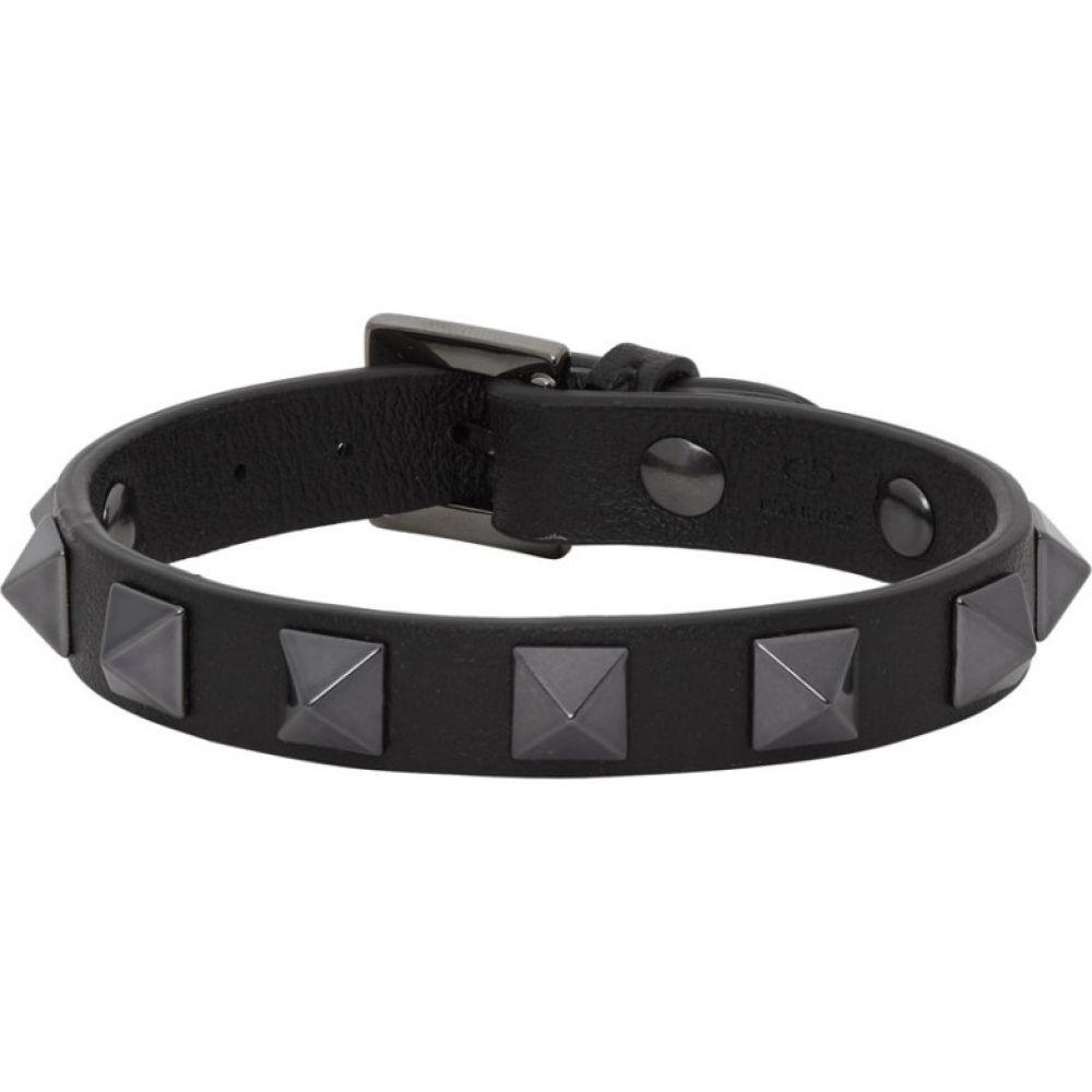 ヴァレンティノ Valentino メンズ ブレスレット ジュエリー・アクセサリー【Black Garavani Rockstud Bracelet】Black