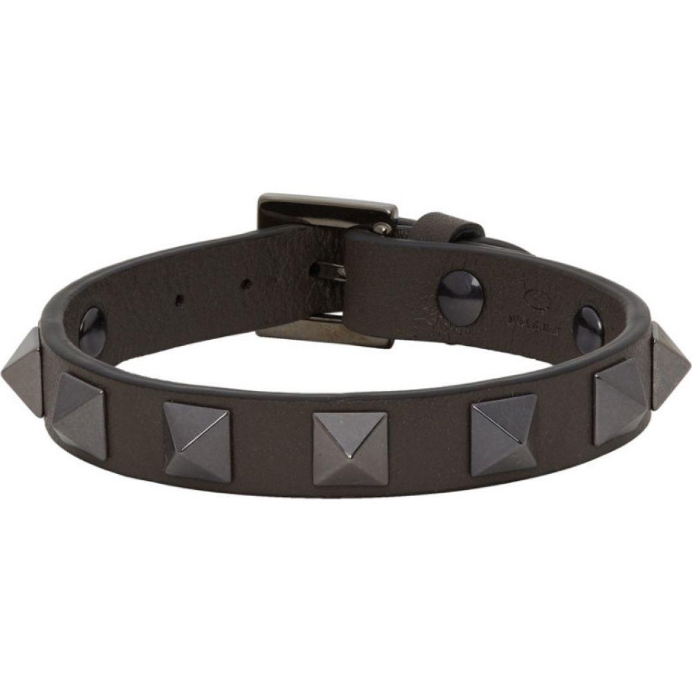 ヴァレンティノ Valentino メンズ ブレスレット ジュエリー・アクセサリー【Grey Garavani Rockstud Bracelet】Graphite