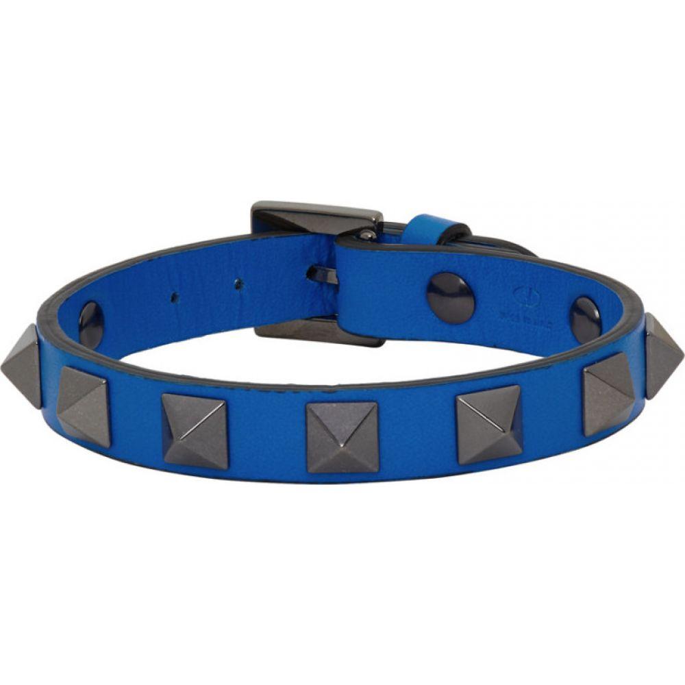 ヴァレンティノ Valentino メンズ ブレスレット ジュエリー・アクセサリー【Blue Garavani Rockstud Bracelet】Neon blue