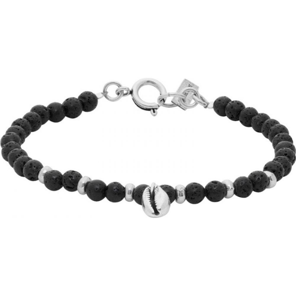 イザベル マラン Isabel Marant メンズ ブレスレット ジュエリー・アクセサリー【Black & Silver Stone Bracelet】Black