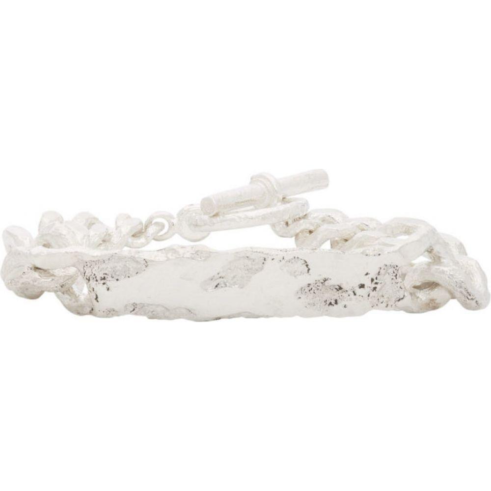 パールズ ビフォア スワイン Pearls Before Swine メンズ ブレスレット ジュエリー・アクセサリー【Silver Id Tag Bracelet】silver