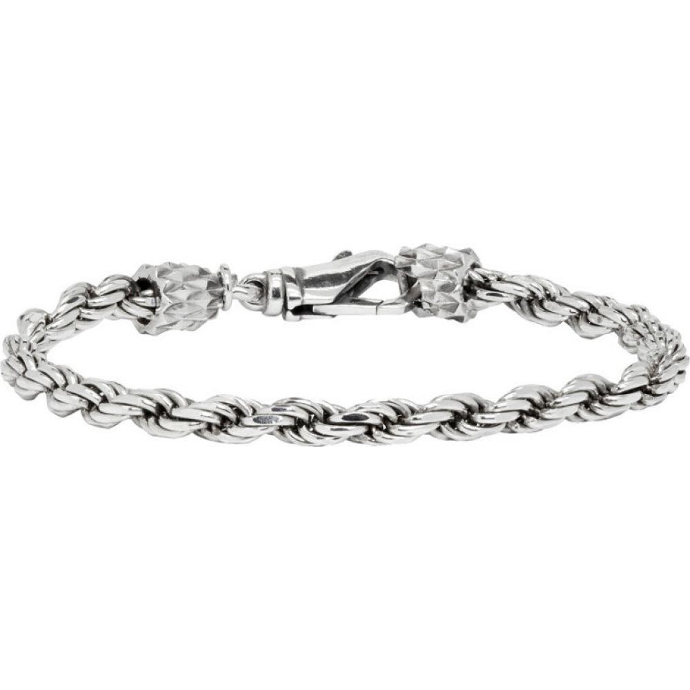 エマニュエレ ビコッキ Emanuele Bicocchi メンズ ブレスレット ジュエリー・アクセサリー【Silver Tiny Rope Bracelet】Silver