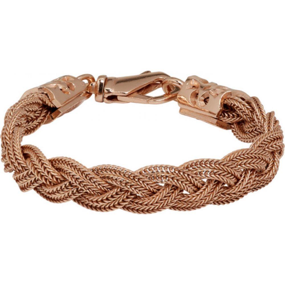 エマニュエレ ビコッキ Emanuele Bicocchi メンズ ブレスレット ジュエリー・アクセサリー【SSENSE Exclusive Rose Gold Flat Braided Bracelet】Rose gold
