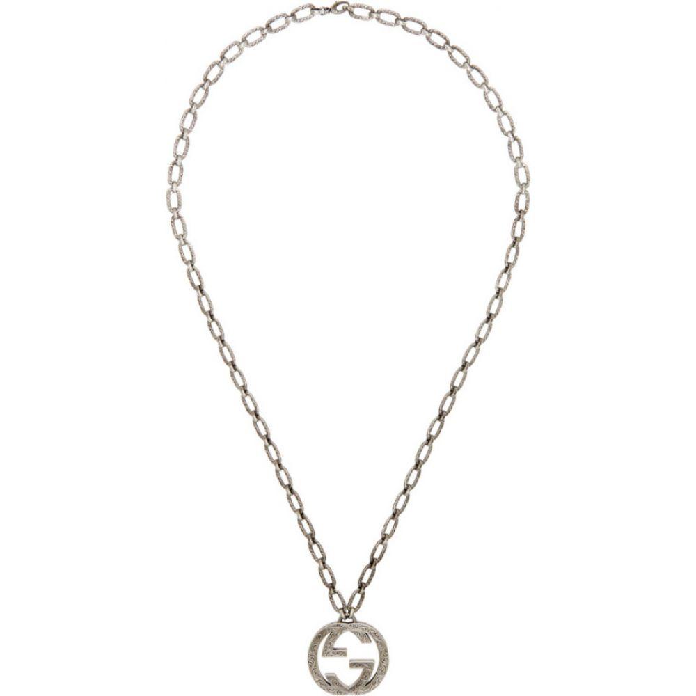 グッチ Gucci メンズ ネックレス ジュエリー・アクセサリー【Silver Interlocking GG Necklace】