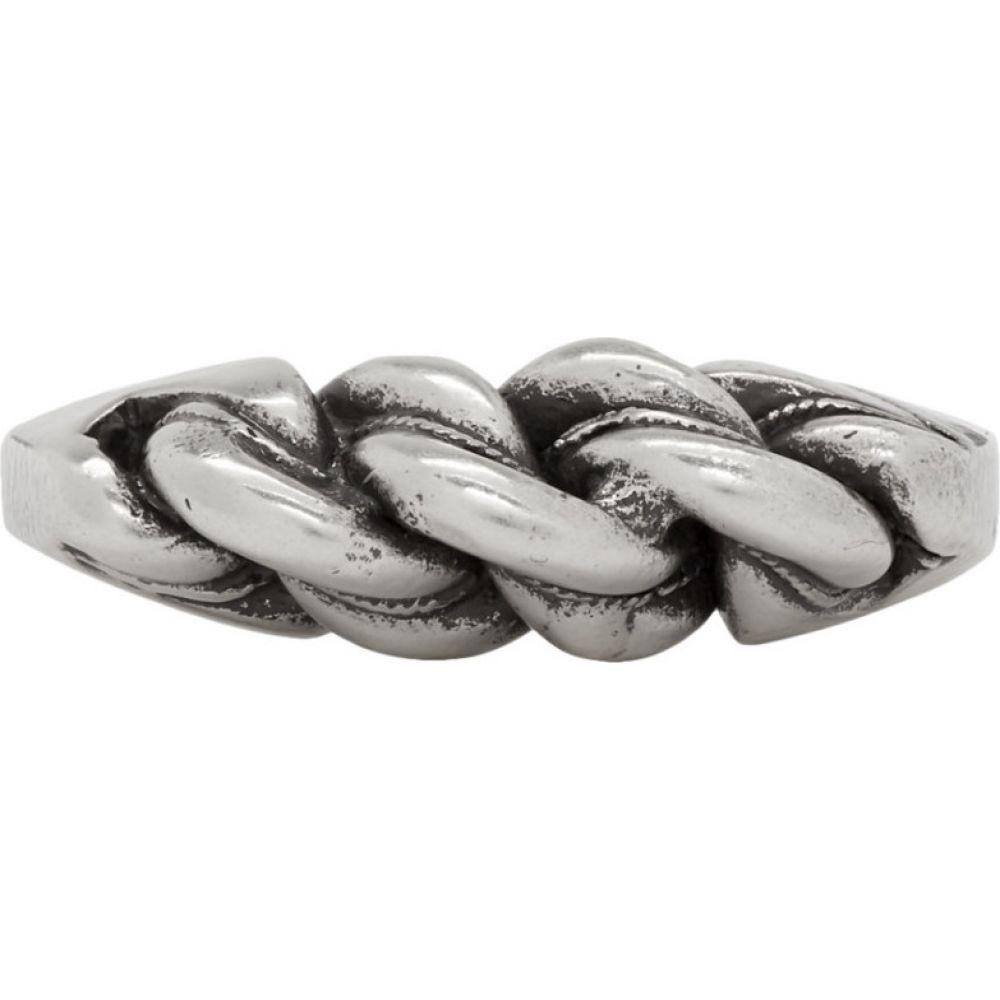イヴ サンローラン Saint Laurent メンズ 指輪・リング ジュエリー・アクセサリー【Silver Torsade Ring】