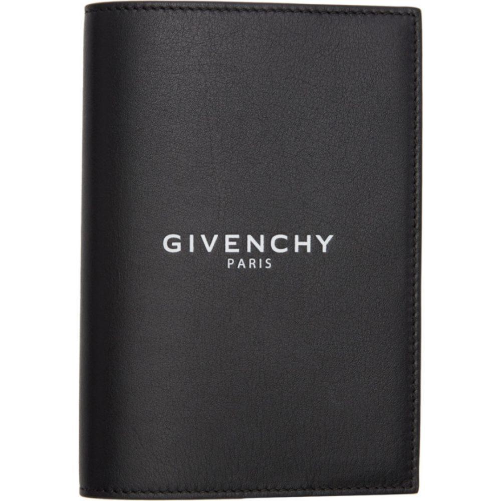 ジバンシー Givenchy メンズ パスポートケース 【Black Logo Passport Holder】Black