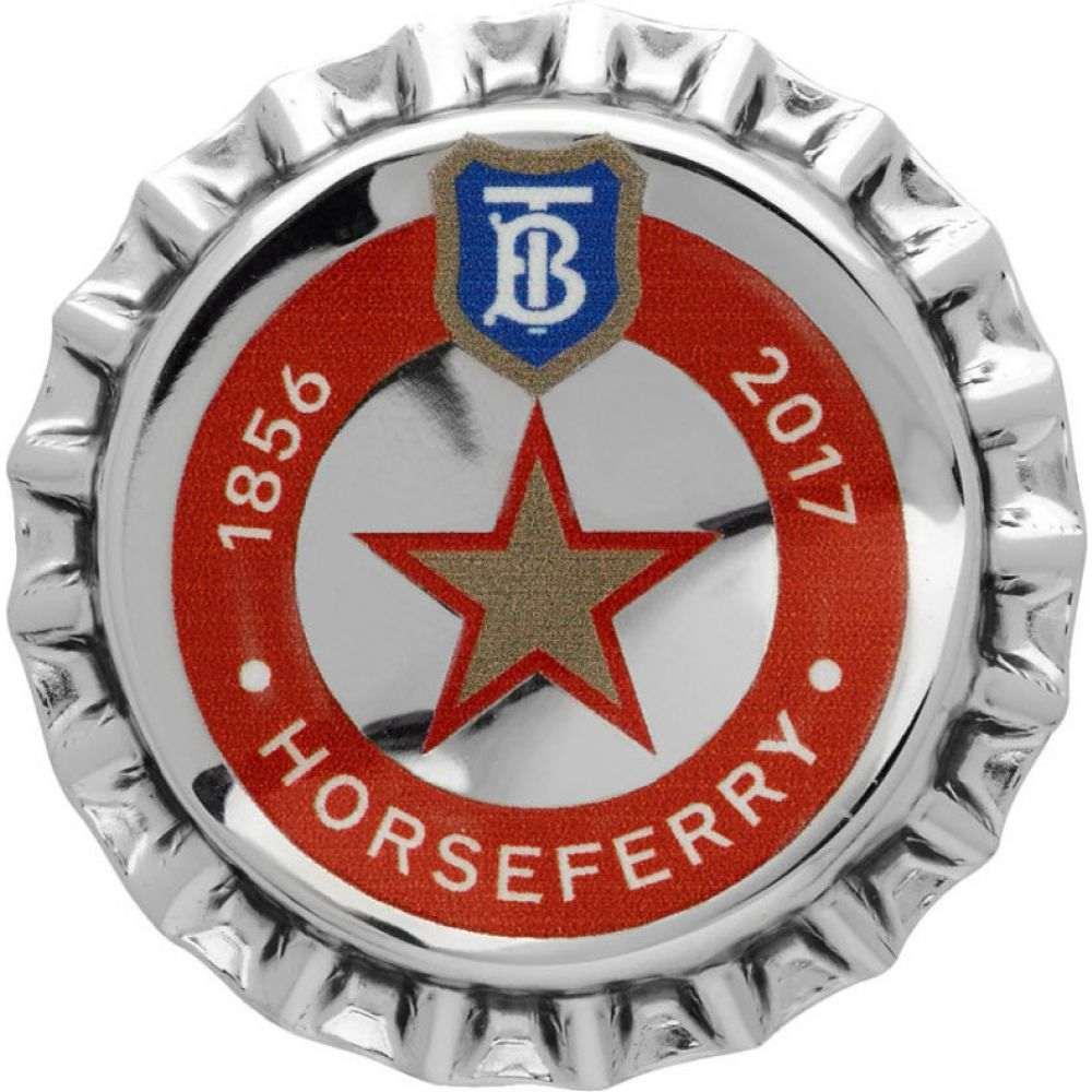 バーバリー Burberry メンズ ラペルピン 【Silver Bauhaus Bottle Cap Pin】Palladio