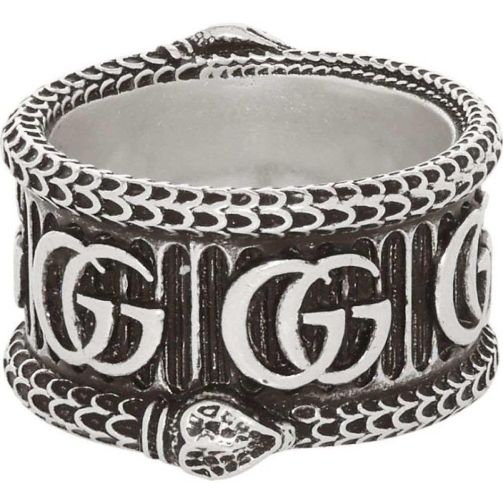 グッチ Gucci メンズ 指輪・リング ジュエリー・アクセサリー【Silver GG Marmont Ring】Aged silver